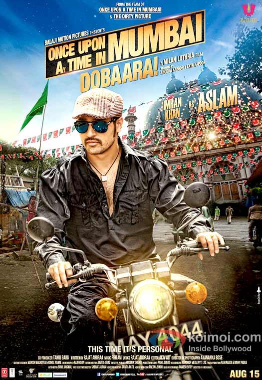 Imran Khan in Once Upon A Time In Mumbaai Dobaara! New Movie Poster