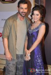 John Abraham And Asha Negi at Boro Plus Gold Awards 2013