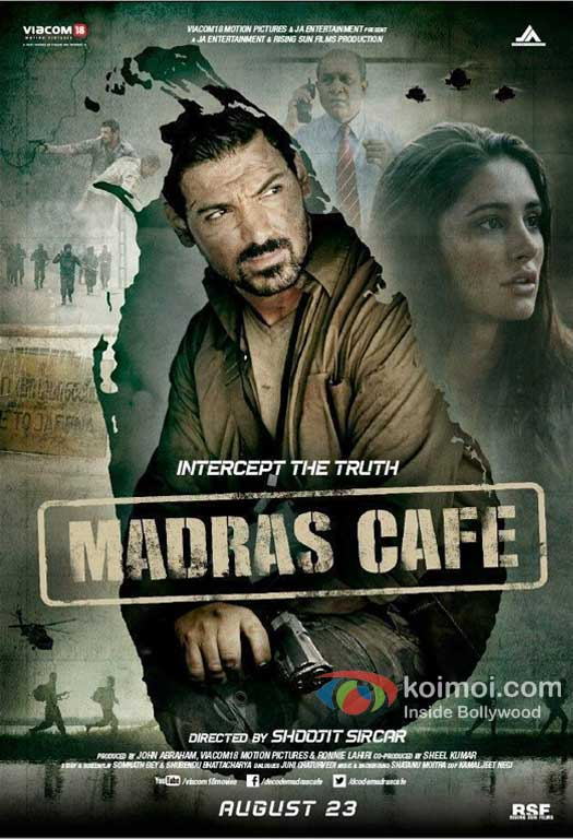 John Abraham and Nargis Fakhri In Madras Cafe First Look Movie Poster