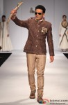 Manoj Bajpai walks the ramp at Wills Lifestyle India Fashion Week 2013