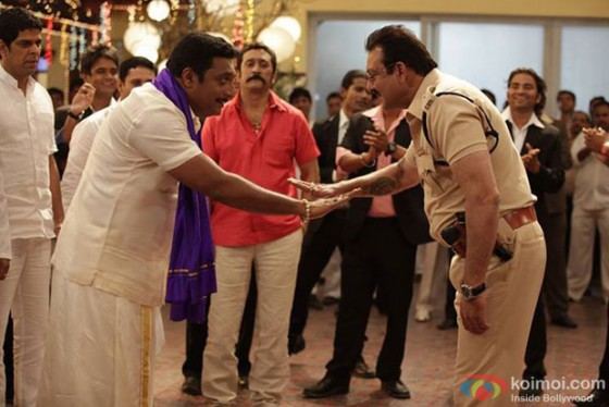 Murli Sharma, Prakash Raj, Mukesh Tiwari and Sanjay Dutt in Policegiri Movie Stills