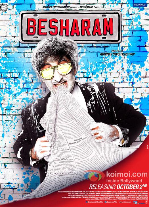 Ranbir Kapoor Besharam Movie Poster (Ranbir Kapoor Besharam Movie New Poster)