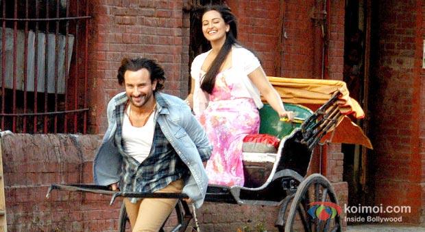 Saif Ali Khan And Sonakshi Sinha in Bullet Raja Movie Stills