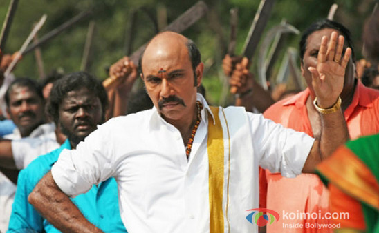 Sathyaraj in Chennai Express Movie Stills