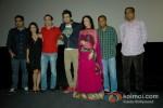 Saurabh Varma, Pooja Gupta, Manish Choudhary, Manish Paul Elli Avram, Vivek Rangachari and Arun Rangachari At First Look launch of 'Mickey Virus'
