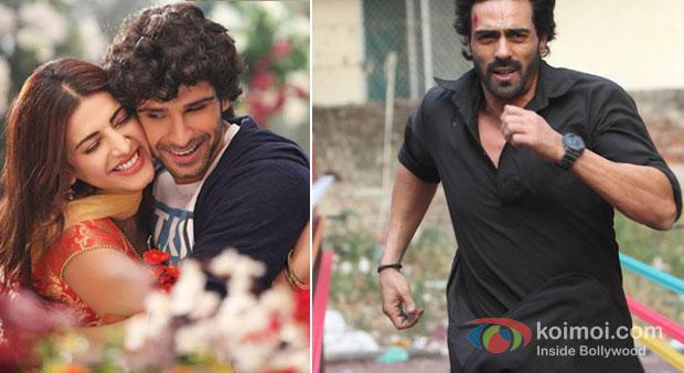 Shruti Haasan And Girish Kumar in Ramaiya Vastavaiya And Arjun Rampal in D Day Movie Stills