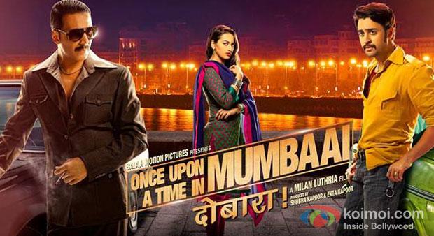 Akshay Kumar, Sonakshi Sinha And Imran Khan in Once Upon A Time In Mumbaai Dobaara! Movie Poster