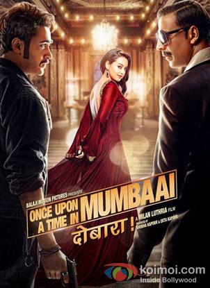 Akshay Kumar, Sonakshi Sinha, Imran Khan in Once Upon A Time In Mumbaai Dobaara! Movie Review (Akshay Kumar, Sonakshi Sinha, Imran Khan in Once Upon A Time In Mumbaai Dobaara! Movie Poster)