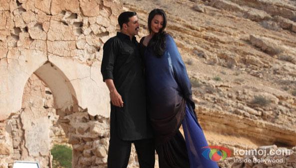 Akshay Kumar And Sonakshi Sinha in Once Upon A Time In Mumbaai Dobaara! Movie Stills