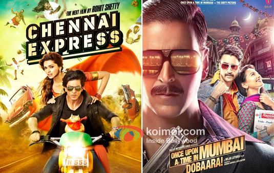 Chennai Express And Once Upon A Time In Mumbaai Dobaara! Movie Posters