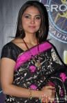 Lara Dutta on the sets of KBC