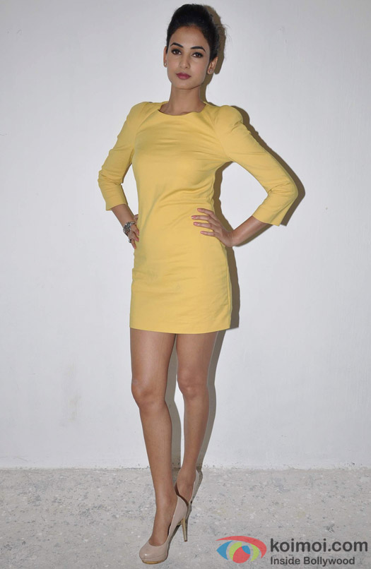Sonal Chauhan poses during the promotion of film 3G