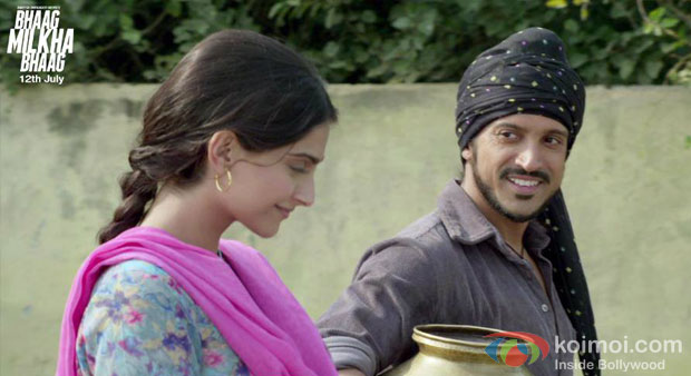 Sonam Kapoor And Farhan Akhtar in Bhaag Milkha Bhaag Movie Stiils
