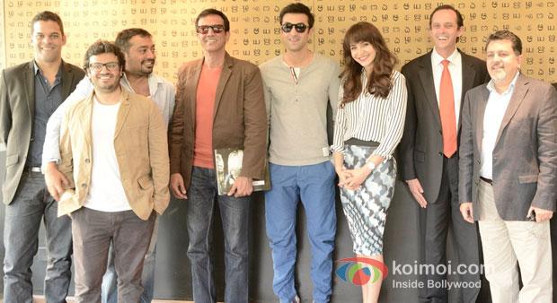 Vikramaditya Motwane, Anurag Kashyap, Kay Kay Menon, Ranbir Kapoor And Anushka Sharma on the Sets of Bombay Velvet