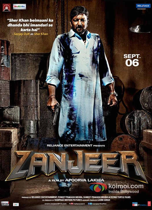 Sanjay Dutt in Zanjeer 2013 New Movie Poster
