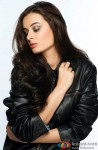 A Stylish Evelyn Sharma Poses Looking Down