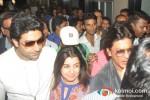 Abhishek Bachchan, Farah Khan And Shah Rukh Khan return from Dubai