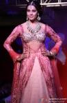 Bipasha Basu walks the ramp for Designers Anjalee and Arjun Kapoor's couture collection Jamawar Aria