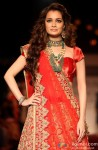 Dia Mirza walks the ramp at LFW Winter Festive 2013