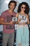 Hrithik Roshan and Kangana Ranaut at the Krrish 3's Music Launch Event