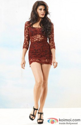 Jacqueline Fernandez Looking Stunning In A Lacy Dress