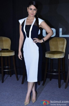 Kareena Kapoor Looking Stunning In A Black & White Dress
