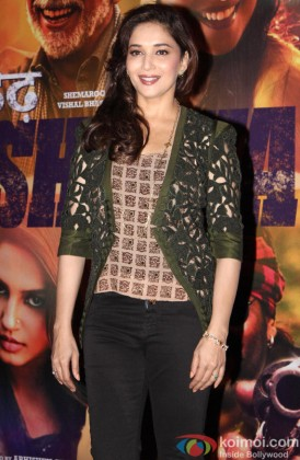 Madhuri Dixit during the trailer launch of film 'Dedh Ishqiya'