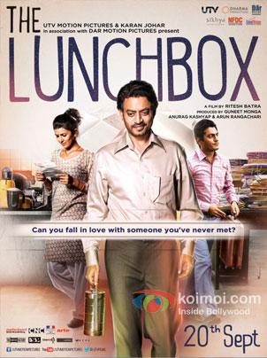 Nimrat Kaur, Irrfan Khan And Nawazuddin Siddiqui in The Lunchbox Movie Review (Nimrat Kaur, Irrfan Khan And Nawazuddin Siddiqui in The Lunchbox Movie Poster)
