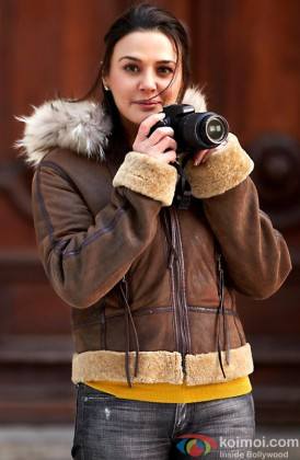 Preity Zinta Snapped With A Camera