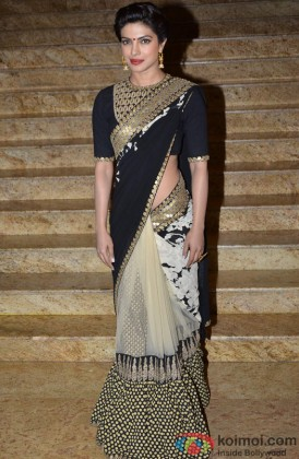 Priyanka Chopra Looking Beautiful In A Stylish Saree