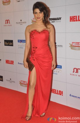 Priyanka Chopra during the Hello Hall of Fame Awards 2013