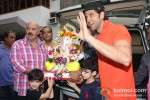 Rakesh Roshan At Hrithik Roshan's 'Ganesh Visarjan' Celebration Pic 2