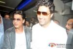Shah Rukh Khan And Abhishek Bachchan return from Dubai Pic 1