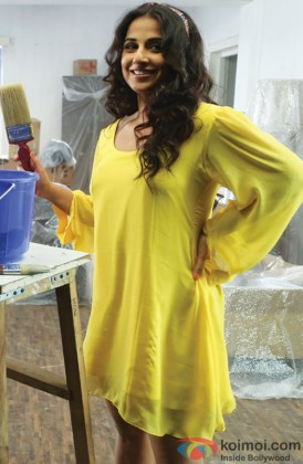 Vidya Balan Looking Fresh In Yellow