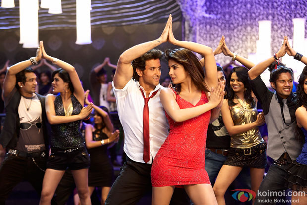 Hrithik Roshan and Priyanka Chopra in Raghupati Raghav song from Krrish 3