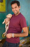 A Smiley Abhay Deol Poses With A Cute Puppy