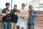 Abhay Chopra, Bhushan Kumar, Amitabh Bachchan and Nitesh Tiwari clap for the Mahurat of Bhoothnath Returns Pic 1
