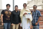 Abhay Chopra, Bhushan Kumar, Amitabh Bachchan and Nitesh Tiwari clap for the Mahurat of Bhoothnath Returns Pic 2