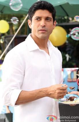 Farhan Akhtar Looking Handsome In A White Shirt