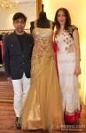 Fashion designers Sanjay lalwani & Sujata Ahuja with their latest collection