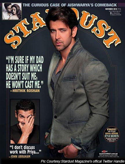 Hrithik Roshan on a Stardust Magazine Cover