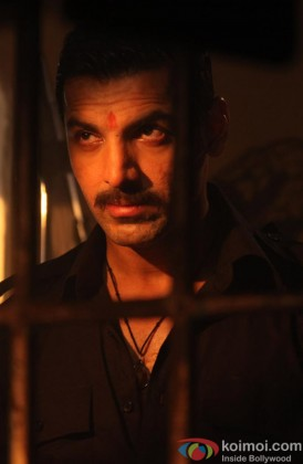 John Abraham Gives An Angry Stare