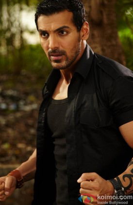 John Abraham In A Still From His Film Force
