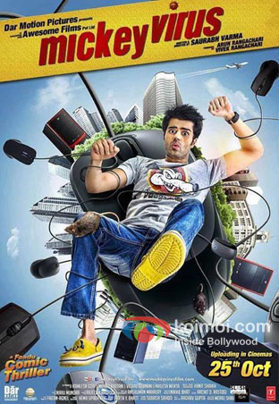 Manish Paul in a Mickey Virus Movie Poster