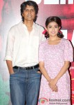 Nagesh Kukunoor And Monali Thakur At the First Look launch of movie 'Lakshmi'