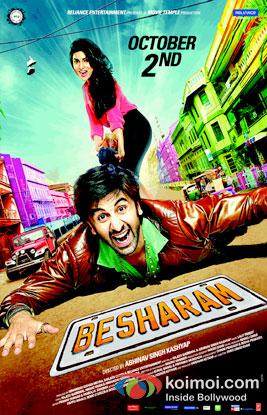 Pallavi Sharda And Ranbir Kapoor in Besharam Movie Review ( Pallavi Sharda And Ranbir Kapoor in Besharam Movie Poster)