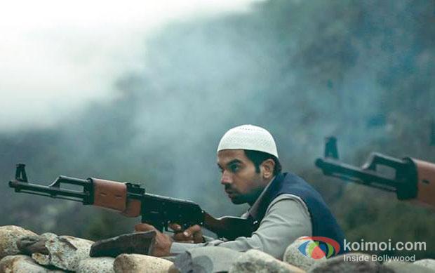Raj Kumar Yadav in a still from Shahid Movie Poster