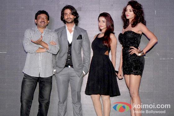 Ram Gopal Varma, Puneet Singh Rath, Anaika Soti And Aradhana Gupta At Satya 2 Trailer Launch
