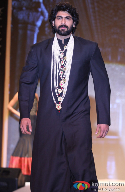 Rana Daggubati walks the ramp at IIJW 2013