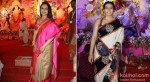Rani Mukerji And Kajol at North Bombay Sarbojanin Durga Puja